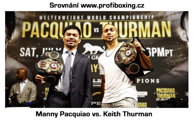 Srovnání Pacquiao vs. Thurman / zdroj foto: Profiboxing.cz