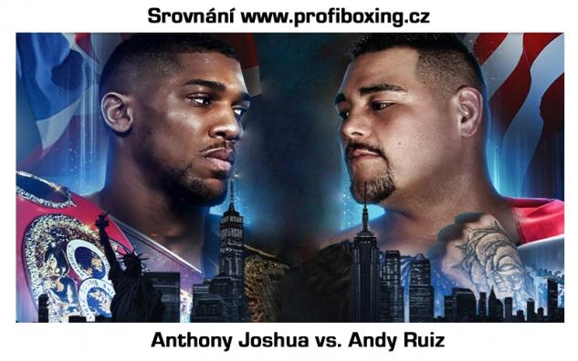 Srovnání Joshua vs. Ruiz / zdroj foto: Profiboxing.cz