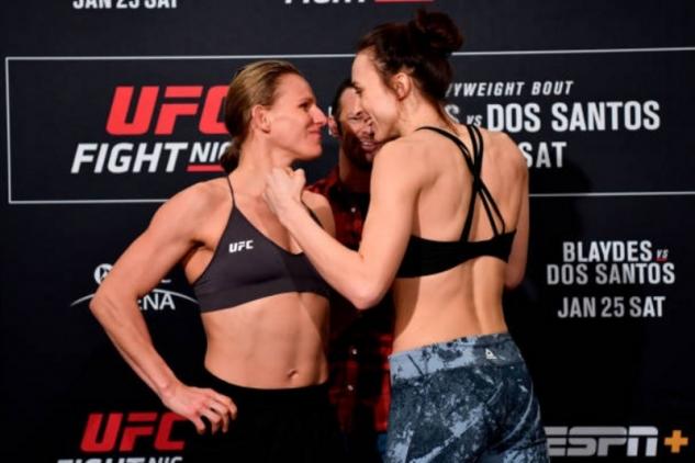 Kishová vs. Pudilová / zdroj foto: UFC