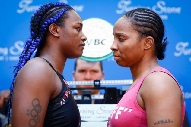 Shieldsová vs. Nelsonová / zdroj foto: Boxingscene.com