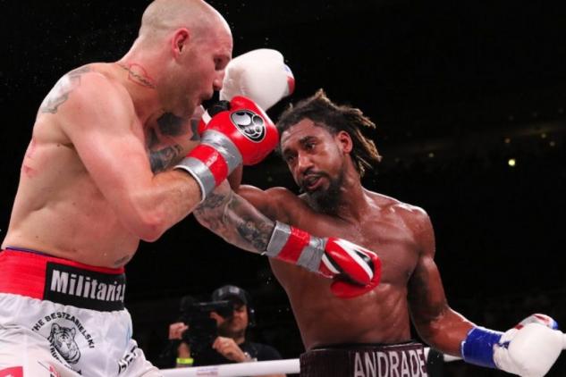 Andrade vs. Sulecki / zdroj foto: Matchroom Boxing