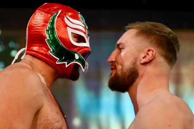 Fury vs. Wallin na vážení / zdroj foto: Boxingscene.com