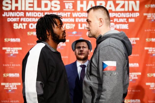 Franklin a Šour na tiskovce / zdroj foto: Boxingscene.com