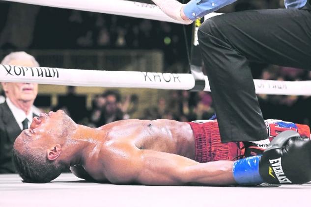 Patrick Day po knockoutu / zdroj foto: Boxingscene.com