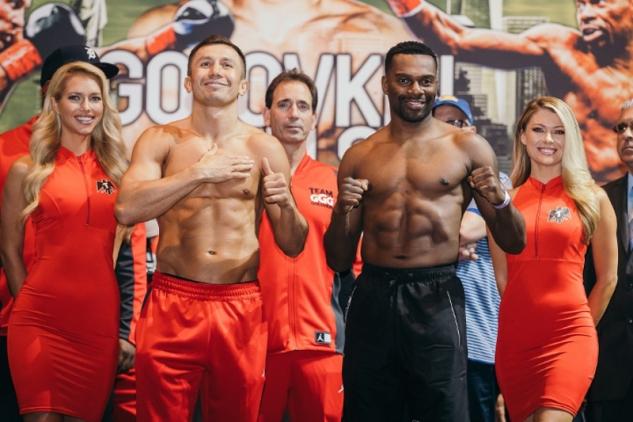 Golovkin a Rolls na vážení / zdroj foto: Boxingscene.com