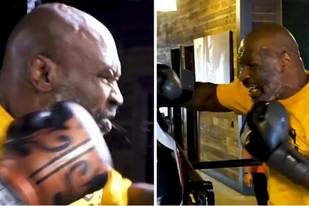 Mike Tyson trénuje