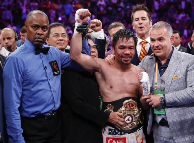 Pacquiao slaví / zdroj foto: Boxingscene.com