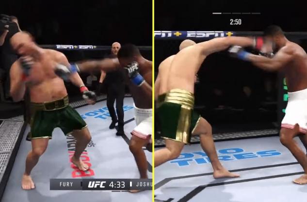 Fury vs Joshua na UFC 4