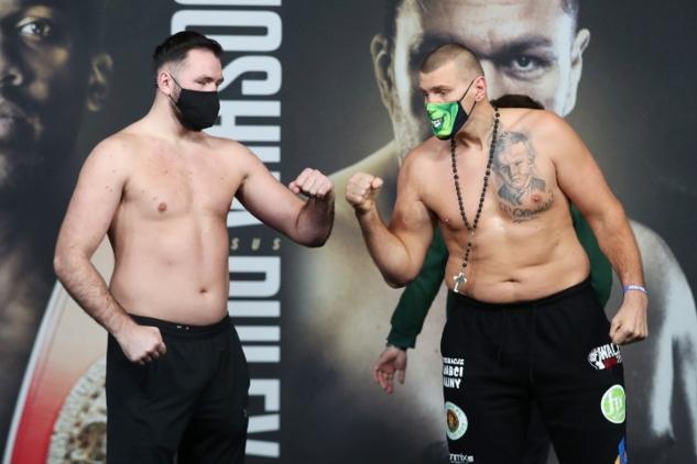 Fury a Wach na váze / zdroj foto: Boxingscene.com