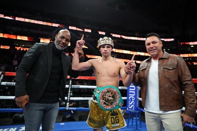Zleva: Hopkins, Garcia a De la Hoya
