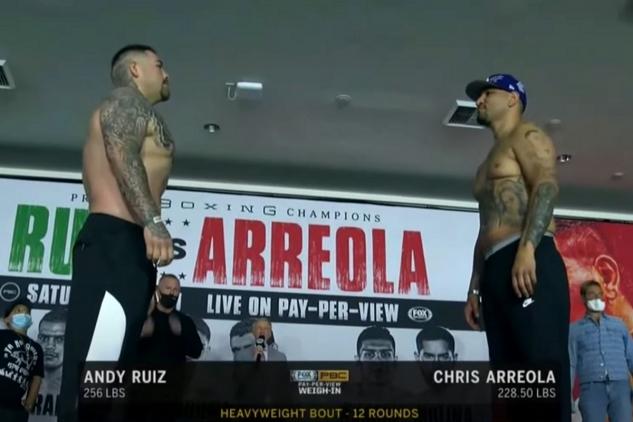Ruiz vs. Arreola na vážení